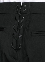'Terry' lace-up back cropped pants