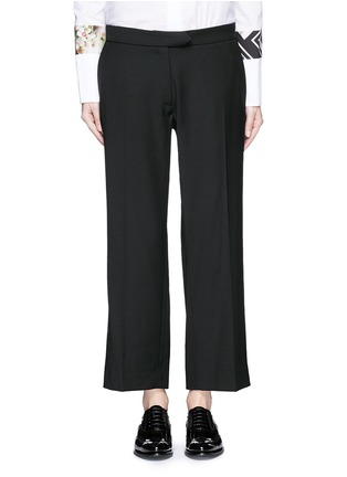 Main View - Click To Enlarge - PREEN BY THORNTON BREGAZZI - 'Terry' lace-up back cropped pants