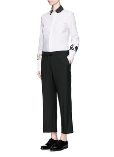 PREEN BY THORNTON BREGAZZI'Terry' lace-up back cropped pants