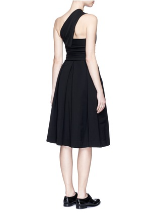 Back View - Click To Enlarge - PREEN BY THORNTON BREGAZZI - 'Athena' one shoulder pleat dress