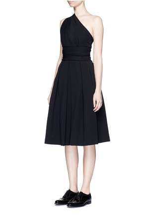 Front View - Click To Enlarge - PREEN BY THORNTON BREGAZZI - 'Athena' one shoulder pleat dress