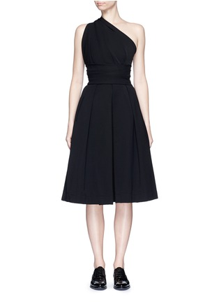 Main View - Click To Enlarge - PREEN BY THORNTON BREGAZZI - 'Athena' one shoulder pleat dress