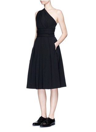 Figure View - Click To Enlarge - PREEN BY THORNTON BREGAZZI - 'Athena' one shoulder pleat dress