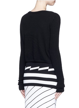 Back View - Click To Enlarge - PREEN BY THORNTON BREGAZZI - 'Shan' cropped cashmere sweater