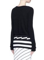 'Shan' cropped cashmere sweater