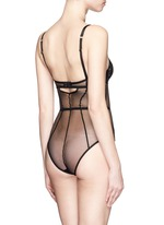 'Layla' floral lace mesh bodysuit