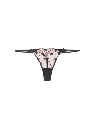 Main View - Click To Enlarge - L'Agent - 'Kaity' floral embroidery tulle strappy thong