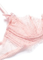'Grace' non-padded foil lace demi bra