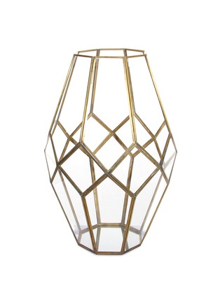 Main View - Click To Enlarge - Shishi As - Diamond brass frame votive candleholder