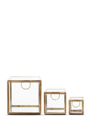 Main View - Click To Enlarge - Shishi As - Mirror base glass box set