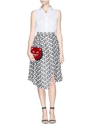 - Charlotte Olympia - 'Pussycat Purse' velvet crossbody bag