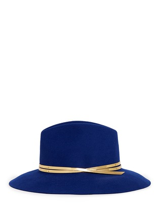 Figure View - Click To Enlarge - Sensi Studio - Mirror leather band wool felt fedora hat