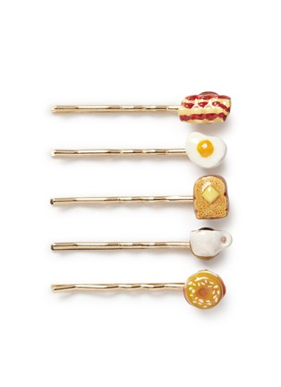 Main View - Click To Enlarge - Venessa Arizaga - 'Breakfast in Bed' bobby pin set