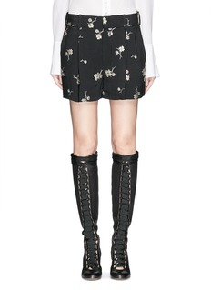 CHLOÉFlower jacquard crepe shorts