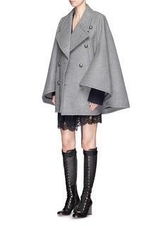 CHLOÉOversize lapel felted wool cape coat