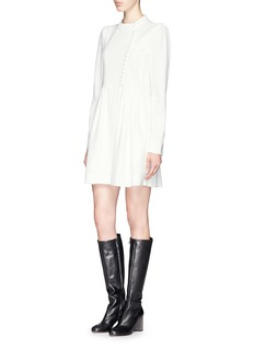 CHLOÉ Asymmetric button front cady dress