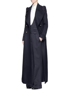 CHLOÉVirgin wool twill button overalls
