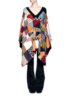 CHLOÉPatchwork wool-silk knit sweater dress