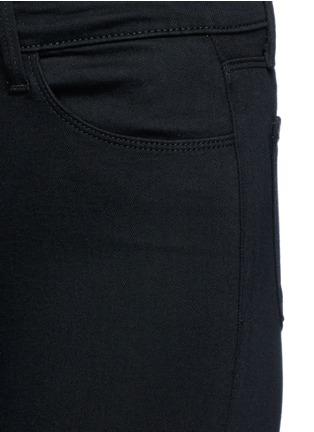 Detail View - Click To Enlarge - J Brand - 'Seriously Black Super Skinny' jeans