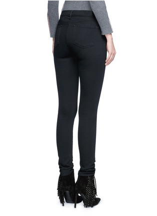 Back View - Click To Enlarge - J Brand - 'Seriously Black Super Skinny' jeans