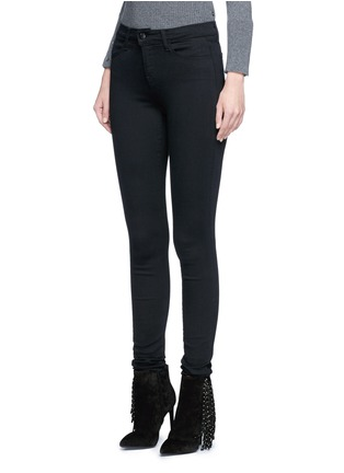 Front View - Click To Enlarge - J Brand - 'Seriously Black Super Skinny' jeans