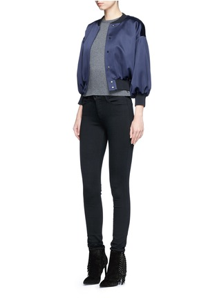 Figure View - Click To Enlarge - J Brand - 'Seriously Black Super Skinny' jeans