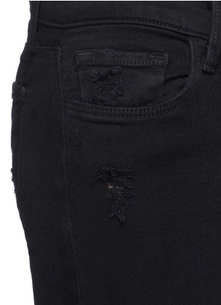 Detail View - Click To Enlarge - J Brand - 'Capri' mid rise cropped skinny jeans