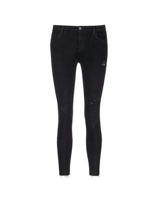 Main View - Click To Enlarge - J Brand - 'Capri' mid rise cropped skinny jeans