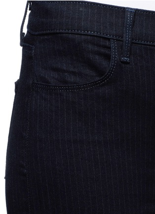 Detail View - Click To Enlarge - J Brand - 'Photo Ready Maria' pinstripe stretch jeans