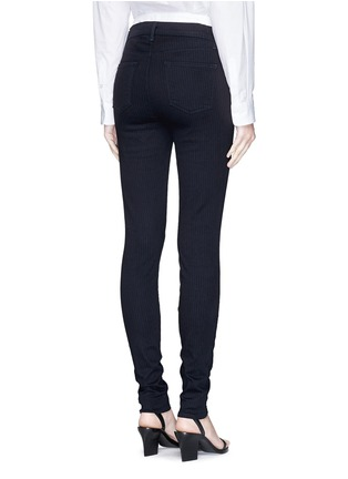 Back View - Click To Enlarge - J Brand - 'Photo Ready Maria' pinstripe stretch jeans