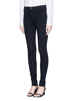 Front View - Click To Enlarge - J Brand - 'Photo Ready Maria' pinstripe stretch jeans