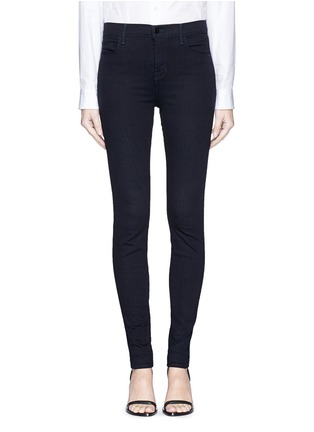 Main View - Click To Enlarge - J Brand - 'Photo Ready Maria' pinstripe stretch jeans