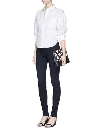 Figure View - Click To Enlarge - J Brand - 'Photo Ready Maria' pinstripe stretch jeans