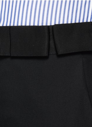 Detail View - Click To Enlarge - Lanvin - Grosgrain bow waistband wool pants