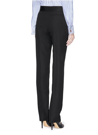 Back View - Click To Enlarge - Lanvin - Grosgrain bow waistband wool pants