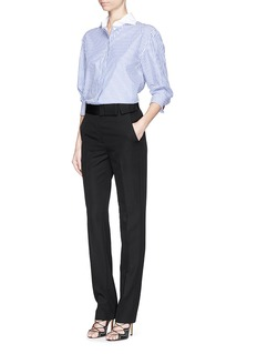 LANVIN Grosgrain bow waistband wool pants