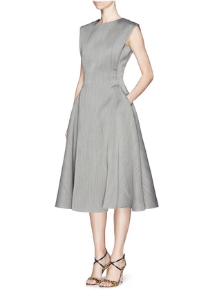 Front View - Click To Enlarge - Lanvin - Wool-silk fitted flare dress