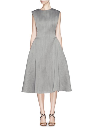 Main View - Click To Enlarge - Lanvin - Wool-silk fitted flare dress