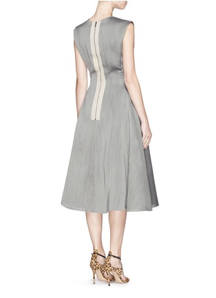 Figure View - Click To Enlarge - Lanvin - Wool-silk fitted flare dress