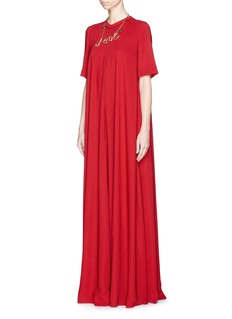 LANVIN Washed crepe gown