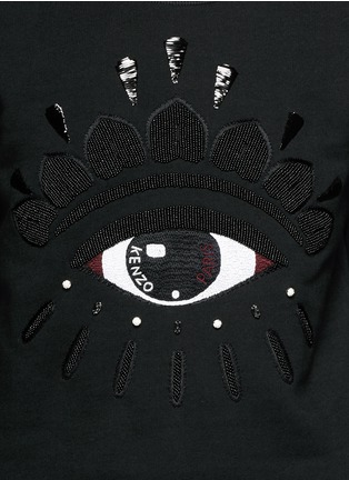 Detail View - Click To Enlarge - KENZO - Beaded eye embroidery sweatshirt
