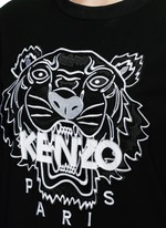 Tiger embroidery crepe sweater