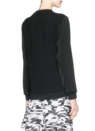 Back View - Click To Enlarge - KENZO - Tiger embroidery crepe sweater