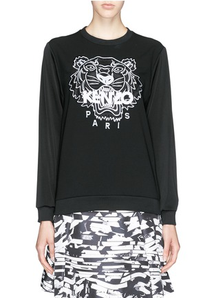 Main View - Click To Enlarge - KENZO - Tiger embroidery crepe sweater