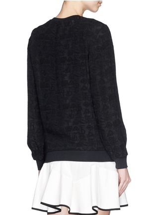Back View - Click To Enlarge - KENZO - 'Love' embroidery cloqué symbol brocade sweatshirt