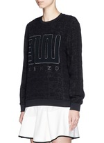 'Love' embroidery cloqué symbol brocade sweatshirt
