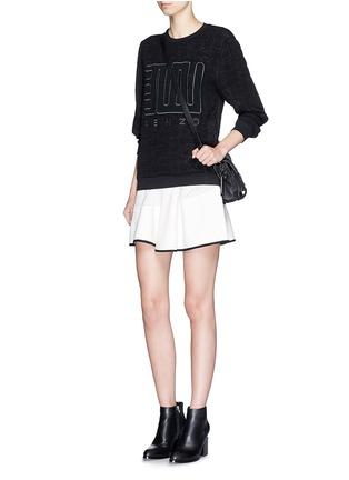 Figure View - Click To Enlarge - KENZO - 'Love' embroidery cloqué symbol brocade sweatshirt