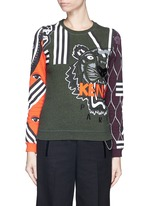Mix logo tiger embroidery sweatshirt