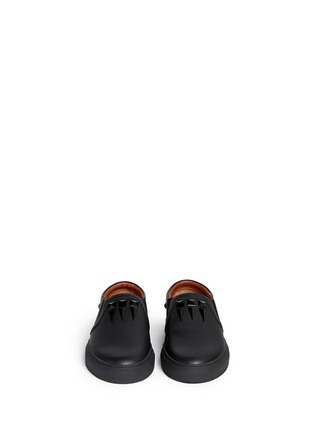 模特儿示范图 - 点击放大 - GIVENCHY - 铆钉小牛皮运动鞋