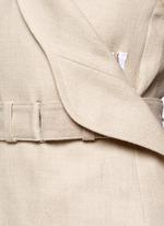 Hopsack zip top